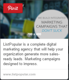 listpopular Pinterest screen shot